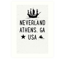 Neverland Athens, GA USA Art Print