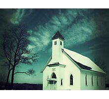 little church around the bend Photographic Print