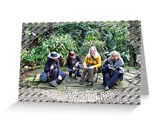 LADY'S TALK (Marjolein,Joke,Mariola&Annie) Greeting Card