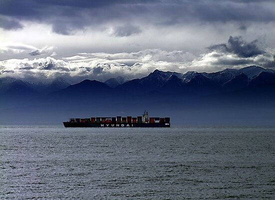 Nearing Port by George Cousins