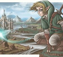 LINK has a nice view! by Non Vale  Art