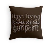 at gunpoint Throw Pillow