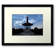 Peace Pagoda, Willen (2) Framed Print