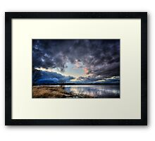 Shoot the Hole Framed Print