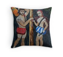 Adam & Eve Throw Pillow