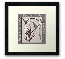 Horse Smile In My Heart Framed Print