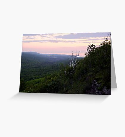 View from Brockway Mountain Greeting Card
