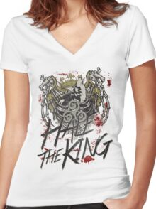 Hale the King Women's Fitted V-Neck T-Shirt
