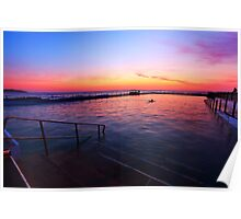 Fire and Water - Dee Why Baths Dawn Poster