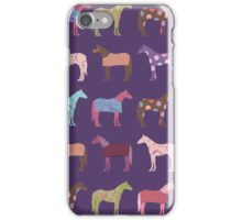 Colorful Horse Pattern iPhone Case/Skin