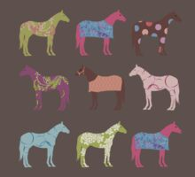 Colorful Horse Pattern Baby Tee