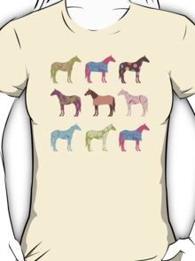 Colorful Horse Pattern T-Shirt