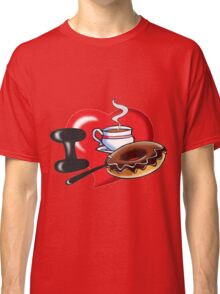 I Love Coffee and Donuts Classic T-Shirt