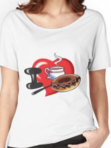 I Love Coffee and Donuts Women's Relaxed Fit T-Shirt