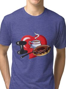 I Love Coffee and Donuts Tri-blend T-Shirt