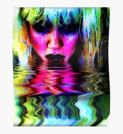 Texture, Color, Light, Water, Beauty Poster