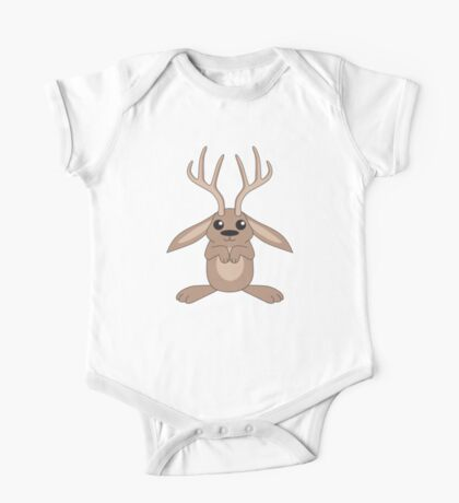 Brown Jackalope One Piece - Short Sleeve