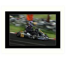 go kart racing Art Print