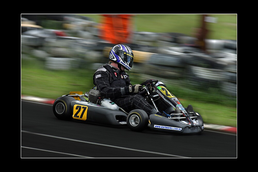 go kart racing by kevin chippindall