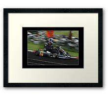 go kart racing Framed Print