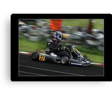 go kart racing Canvas Print
