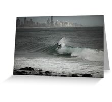 Pro Surfing at Burleigh Greeting Card