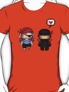pirate vs ninja love T-Shirt