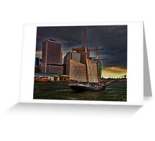 Sailing into the East River, New York City Greeting Card