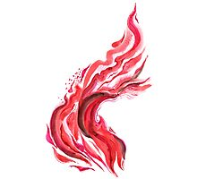 Fire dance. Ink, brush and pen. Photographic Print