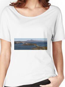 Skye Bridge and Cuillin Mountain Range - Panorama Women's Relaxed Fit T-Shirt