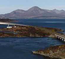 Skye Bridge and Cuillin Mountain Range - Panorama by Maria Gaellman