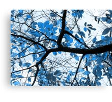 Cerulean Leaves Canvas Print
