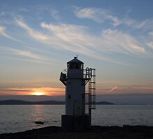 Rhue Lighthouse at Sunset by Maria Gaellman