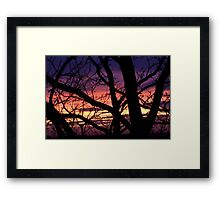 bonnie winter sunset no.3 Framed Print