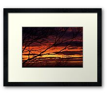 bonnie winter sunset no.1 Framed Print