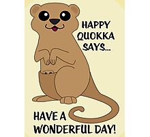 Happy Quokka Photographic Print