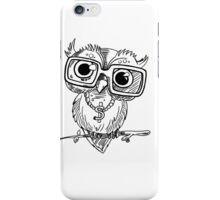 Gangster Owl Illustration iPhone Case/Skin