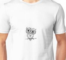 Gangster Owl Illustration Unisex T-Shirt