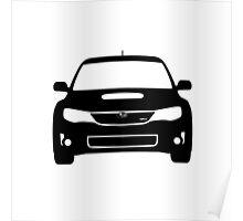 Subaru WRX Hatch Monochromatic Poster