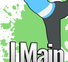 I Main Wii Fit Trainer - Super Smash Bros. Sticker