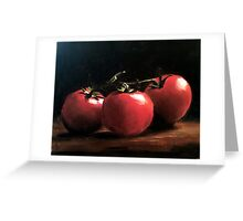 Three Tomatoes Greeting Card