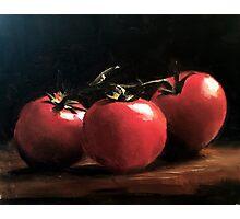 Three Tomatoes Photographic Print