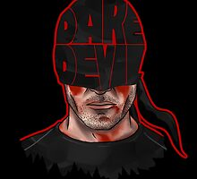 Daredevil - Origin Mask Logo Battle damaged by BovaArt