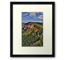 Jurasic - Govetts Leap, Blue Mountains World Heritage Area, Sydney - The HDR Experience Framed Print