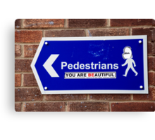 Beautiful Pedestrians Canvas Print