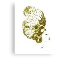 Asian Girls- Kissaeng :Pseudo Pompous Gold Canvas Print