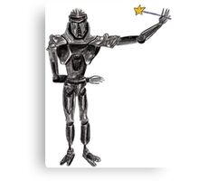 Cute Cylon with a Wand Canvas Print