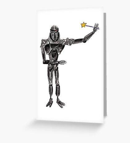 Cute Cylon with a Wand Greeting Card