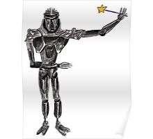 Cute Cylon with a Wand Poster