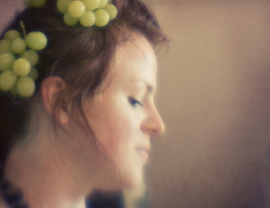 ~ and she wore grapes in her hair ~ by Adriana Glackin